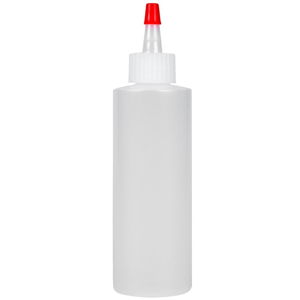 Houseables Squeeze Bottle, Condiment Squirt Sauce Container, 16 Oz (480 ml), Plastic, 6 Pack, Clear, Red Cap, Open-Tip, Screw-On Spout, Durable Polyethylene for Restaurants, Dressing Dispensing