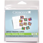 """Crescent Artist Trading Cards 4""""X4"""" 4/Pkg-Inchies/Twinchies"""