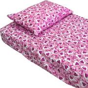 Hearts Pink Purple Bedding Twin-Single Bed Sheet Set