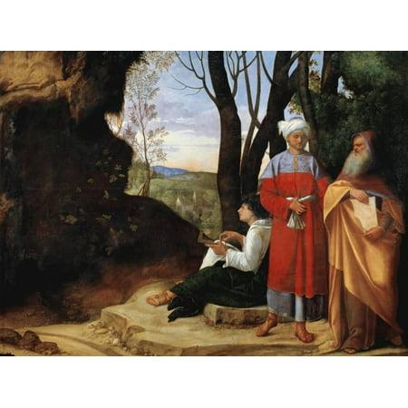 The Three Philosophers by Giorgione Print Wall Art - Walmart.com