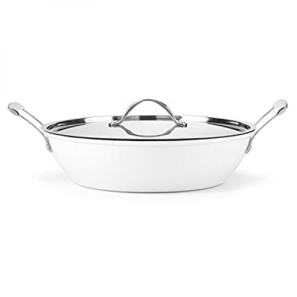 Gorham Cast Iron White 4 Qt Braiser by Lenox
