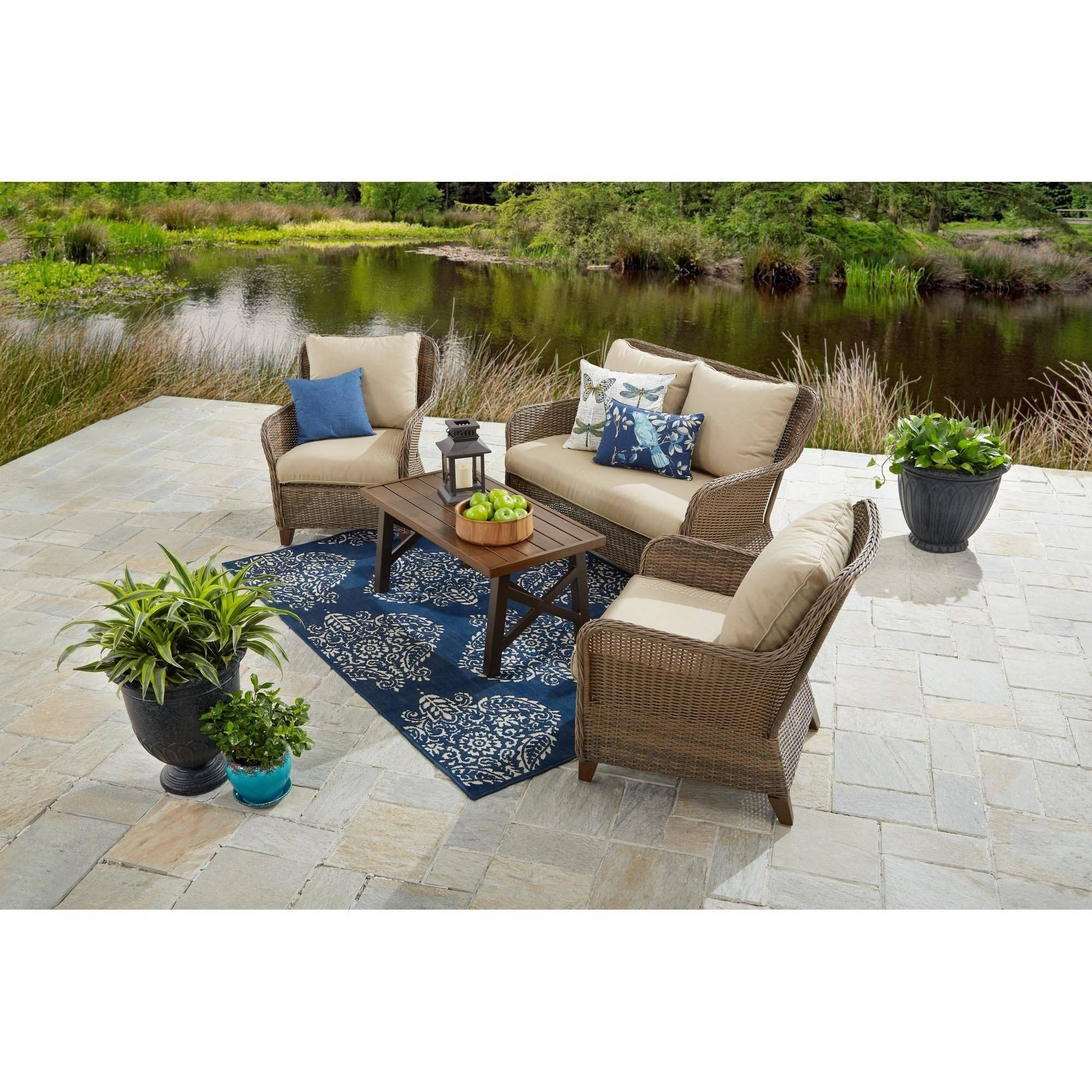 Better Homes and Gardens Camrose Farmhouse 4-Piece Conversation Set by