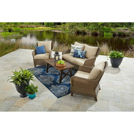 Better Homes And Gardens Camrose Farmhouse Outdoor Conversation Set