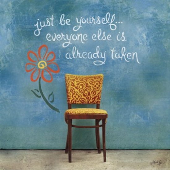 Be Yourself Poster Print by Marla Rae (12 x 12)