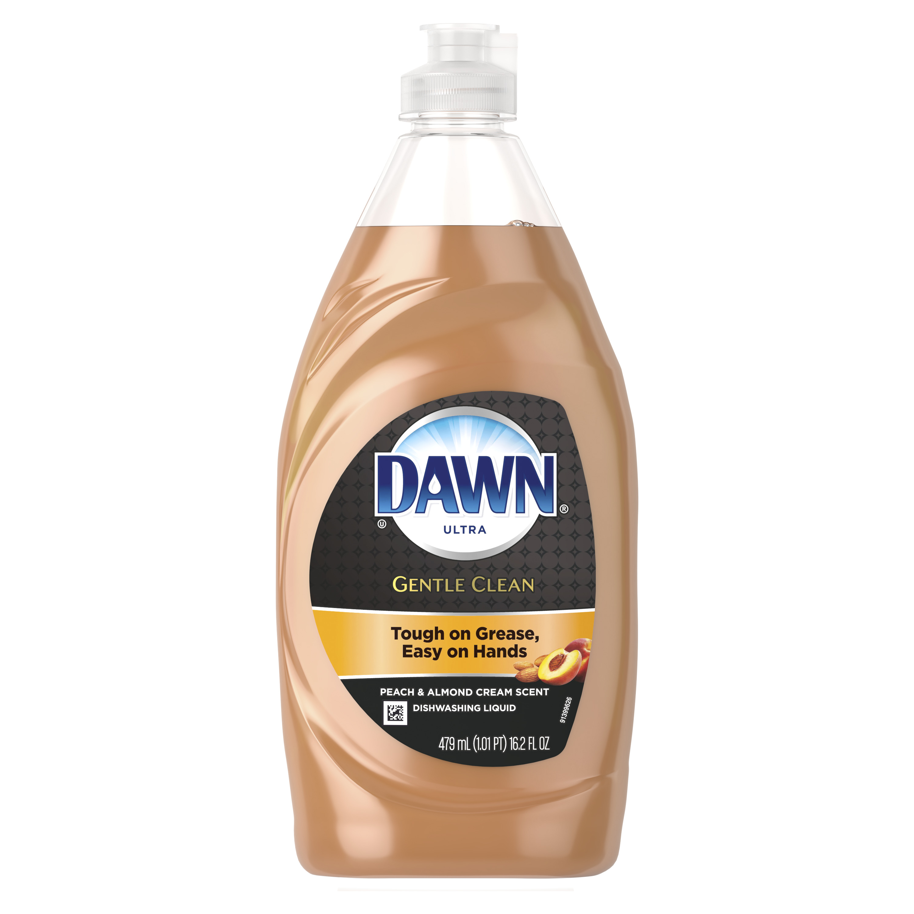 Dawn Gentle Clean Dishwashing Liquid Dish Soap Peach Almond 16.2 oz