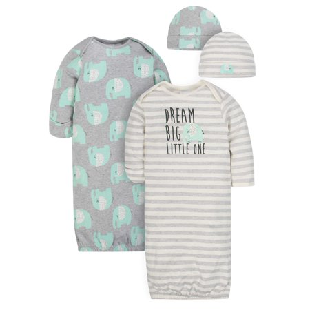 Organic Cotton Cap and Gown Outfit Set, 4pc (Baby Boy or Baby Girl Unisex) - Gerls And Boys