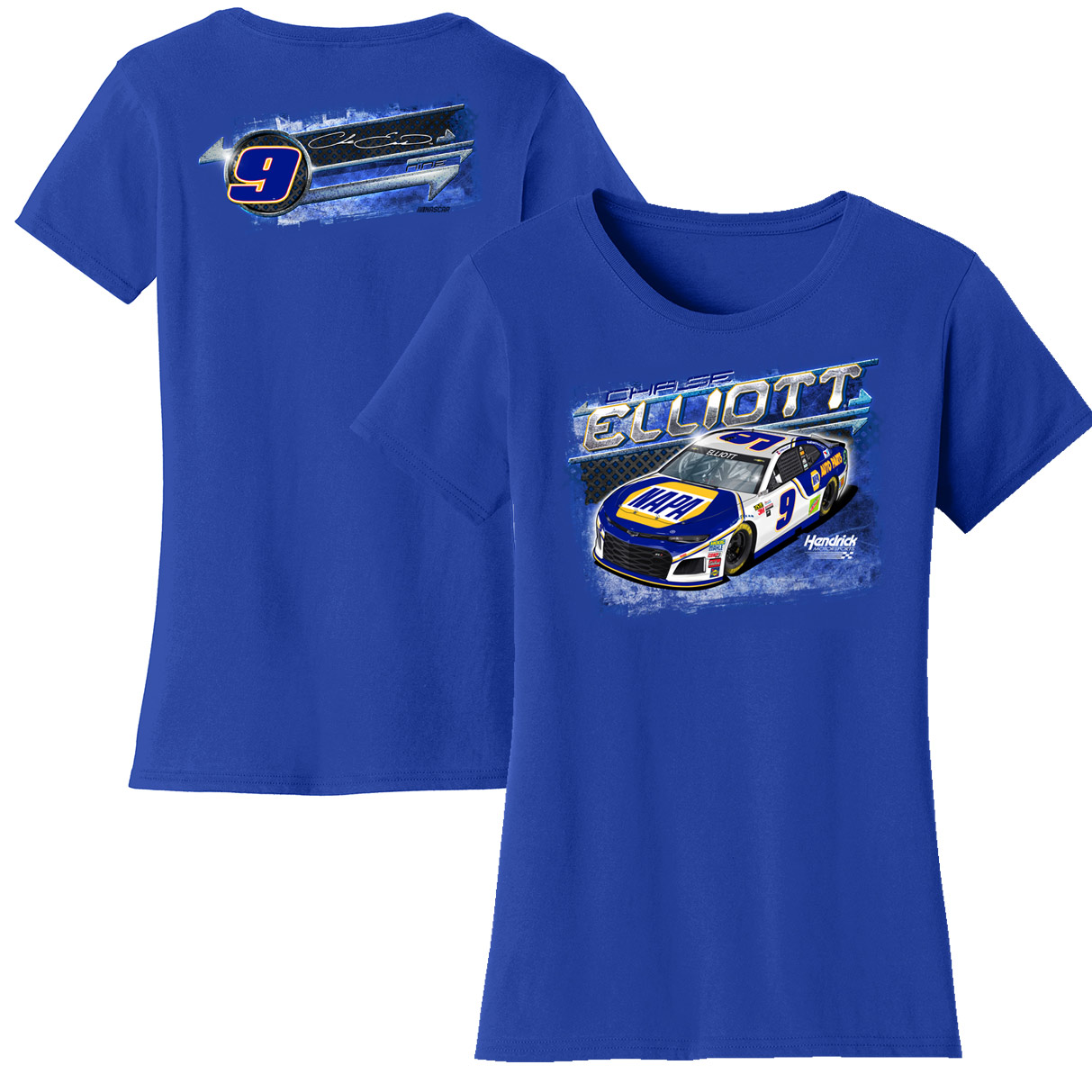 Chase Elliott Women's Car T-Shirt - Royal