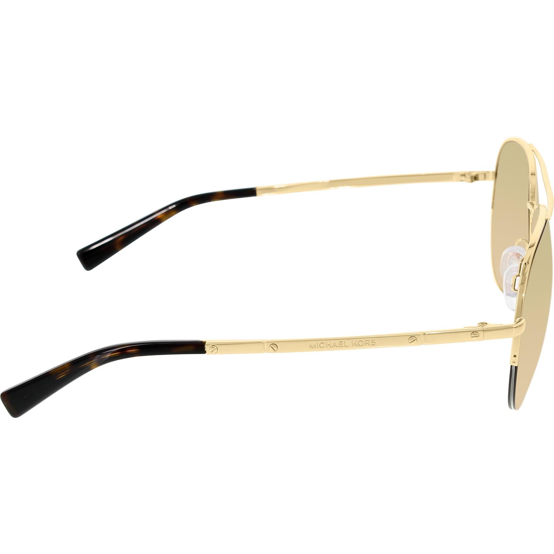 7076dc2b06c33 Michael Kors - Michael Kors Women s Gramercy MK1001-1021R1-59 Gold Aviator  Sunglasses - Walmart.com