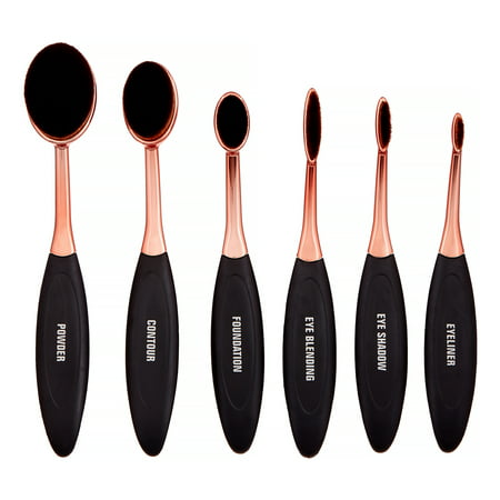 Premium Oval Makeup Brush Set, 6 Pieces ($23
