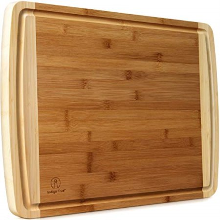 "Bamboo Cutting Board Extra Large - EXTRA WIDE & THICK | Approx. 18""x14"" 