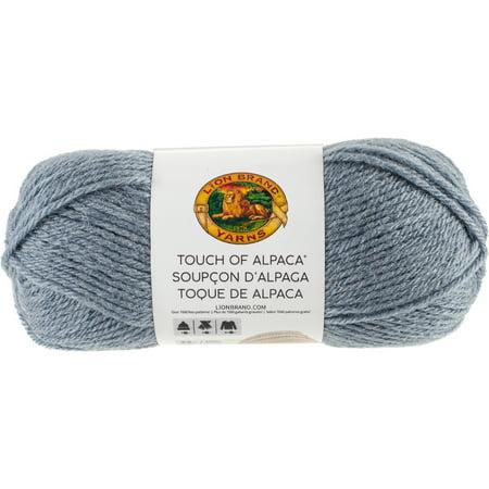 - Lion Brand Touch Of Alpaca Yarn-Dusty Blue