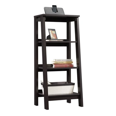 Sauder Trestle 3 Shelf Bookcase Jamocha Wood Finish