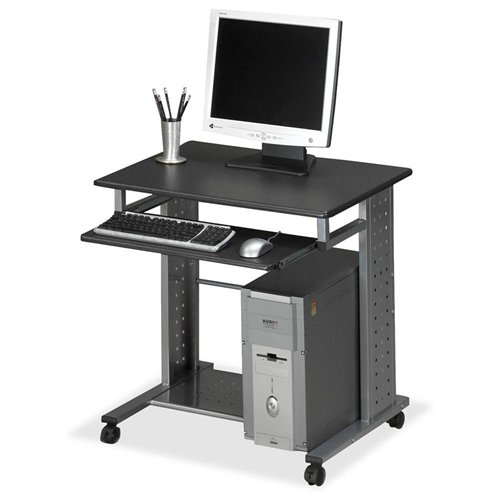 "Mayline Mobile Workstation - Rectangle - 29.8"" Height - Steel - Charcoal Black (945ANT)"
