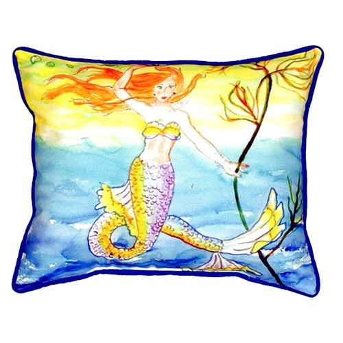 Betsy Drake Interiors Mermaid Indoor/Outdoor Lumbar Pillow