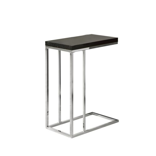 Monarch Accent Table Glossy White With Chrome Metal by Monarch Specialties