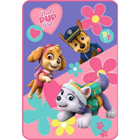 Nickelodeon Paw Patrol Puppy Pals Kids Twin Plush Blanket, 1