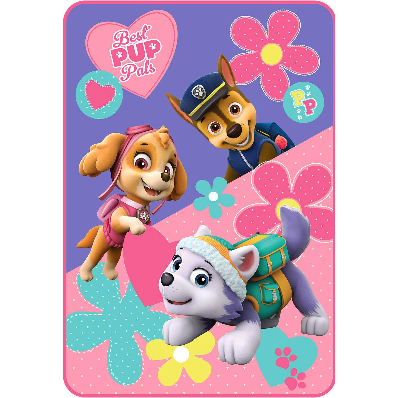 Nickelodeon Paw Patrol Puppy Pals Kids Twin Plush Blanket, 1 Each