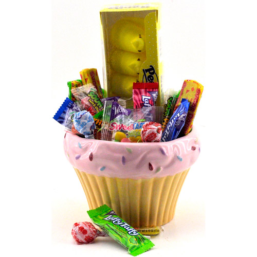 Sweets in Bloom Easter Cupcake with Candy, Pink