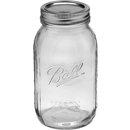 Ball Glass Mason Jar with Lid and Band, Regular Mouth, 32 Ounces, 12 Count