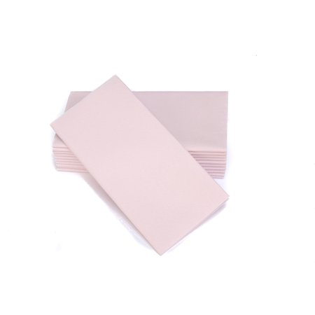 "SimuLinen Dinner Napkins – Disposable, Light PINK, Cloth-Like – Elegant & Heavy Duty, Soft & Absorbent, Like Paper but Better! 16""x16"" – Box of 50 Napkin Dinner Disposable"