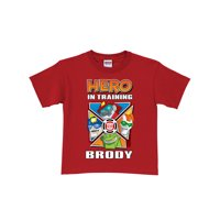 Personalized Transformers Rescue Bots Hero in Training Red Toddler Boys' T-Shirt