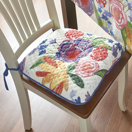 The Pioneer Woman Celia Reversible Quilted Chair Pad
