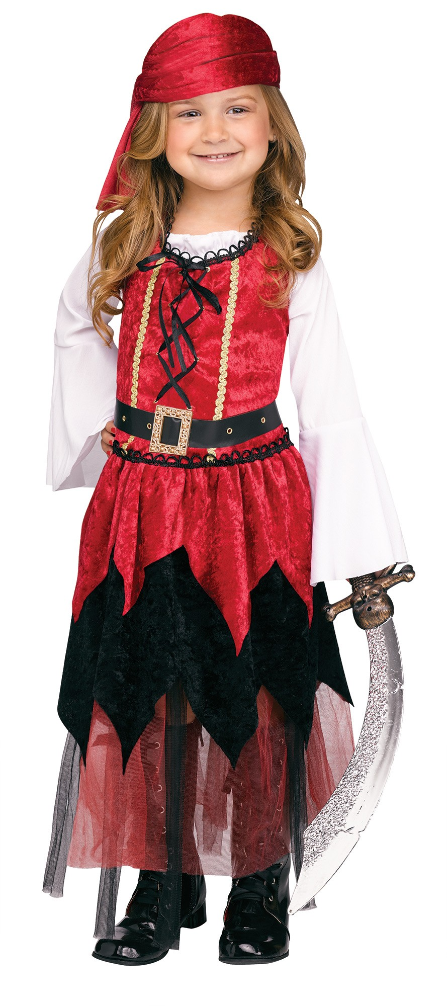 Toddler Little Girls Pirate Princess Costume 3T-4T by In Fashion Kids