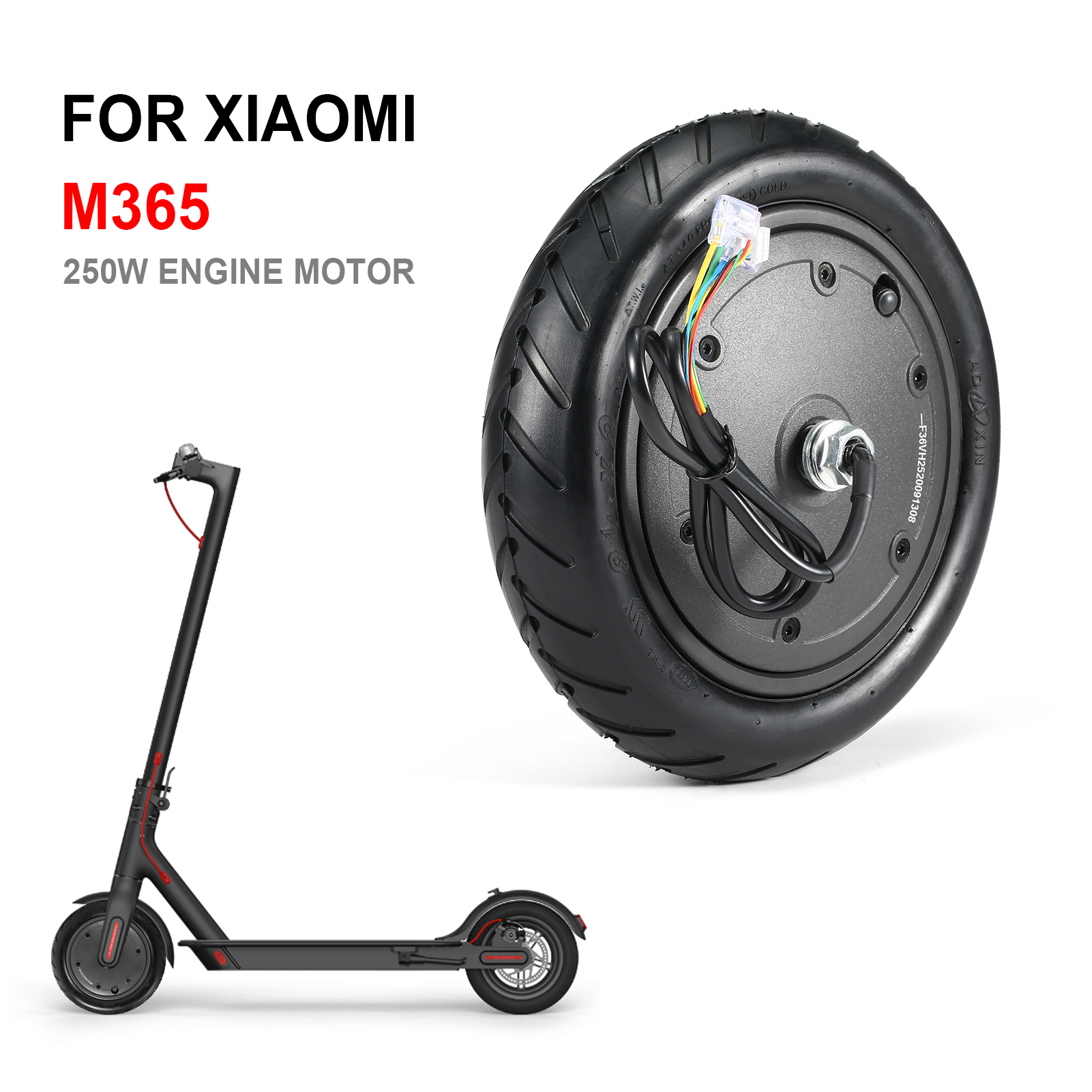 Details about  /250W Motor Wheel Tire for Xiaomi M365 Electric Scooter Tyre Replacement Part