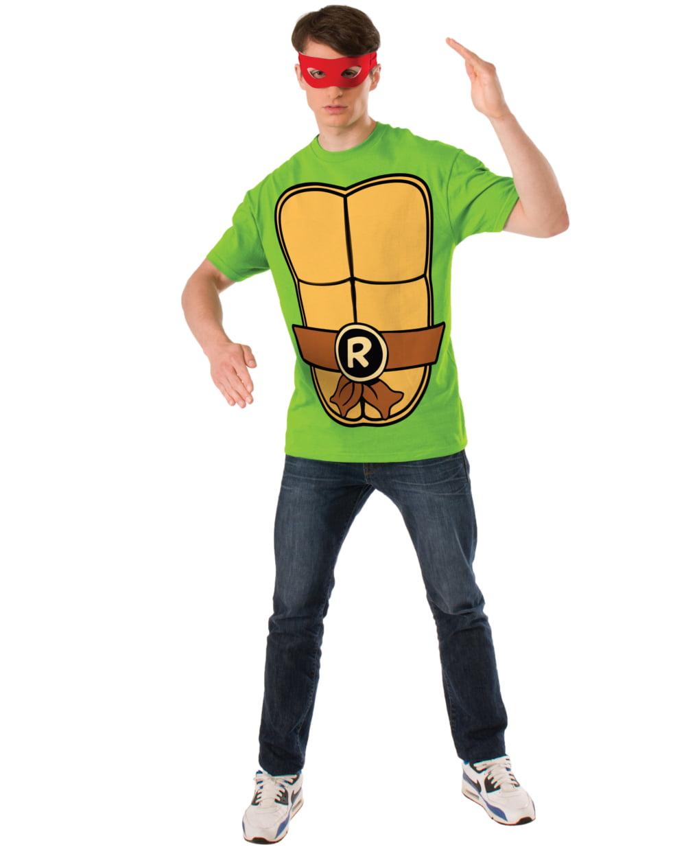 Teenage Mutant Ninja Turtles Raphael Costume Adult Long Sleeve Shirt