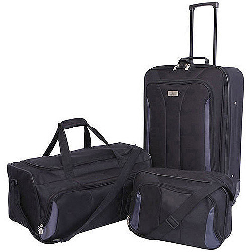 Protege 3-Piece Travel Luggage Set, Multiple Colors