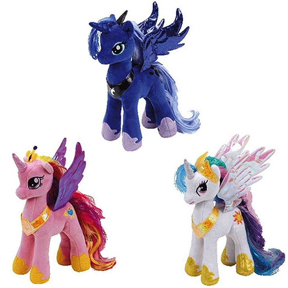 Ty My little Pony Princess Celestia, Cadance, and luna Set