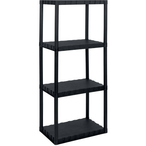 "Enviro Elements 4-Tier Shelf Unit, 14"" x 22"", Black"