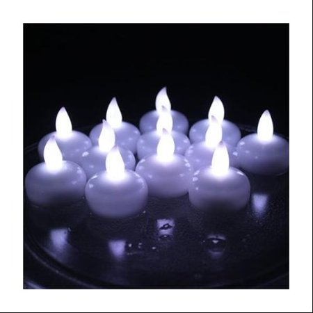 AGPtek 12PCS Battery Operated Waterproof LED Flickering Flameless Tealight Candles for White