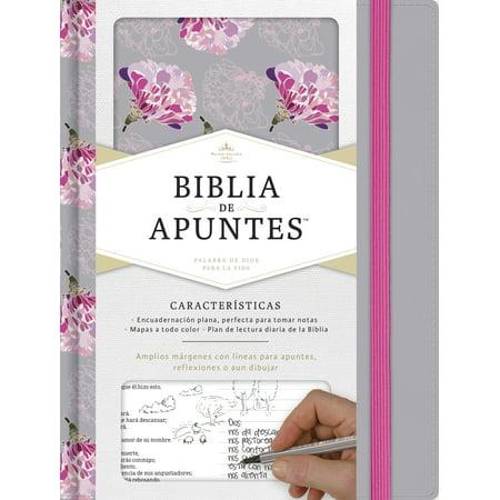RVR 1960 Biblia de apuntes, gris y floreado tela impresa for $<!---->