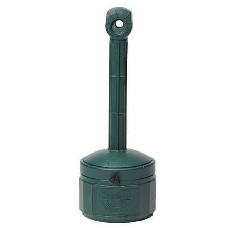 JUSTRITE 26806G Smokers Cease-Fire Cigarette Receptacle, 1 gal., Green