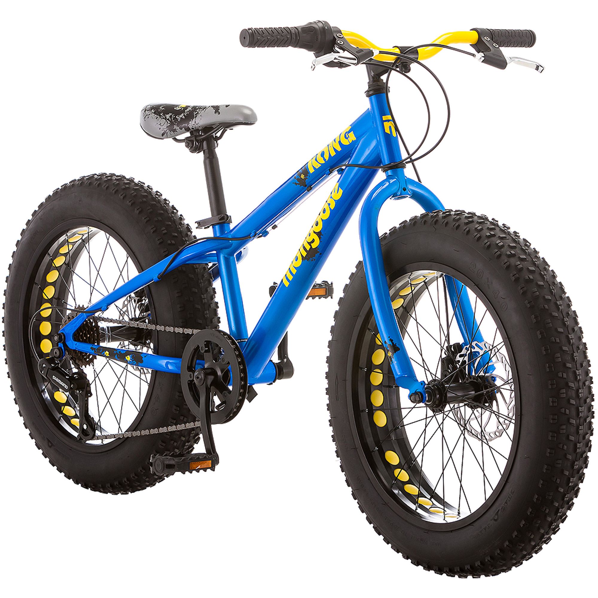 "Click here to buy 20"" Mongoose Kong Boys' All-Terrain Fat Tire Bike, Blue by Pacific Cycle."