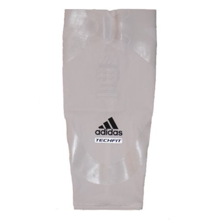 Adidas Men's Techfit Basketball Powerweb Compression Calf Sleeve - White