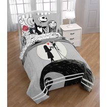 Nightmare Before Christmas Jack Sally Bed In A Bag Bedding Set W