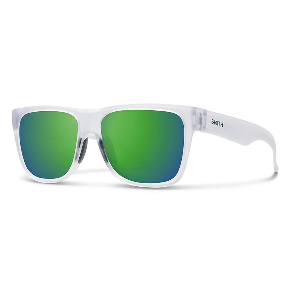 Smith Plastic Rectangular Sunglasses 54 0D28 Shiny Black L7 gray green pz lens
