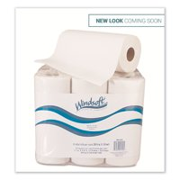Kitchen Roll Towels, 2 Ply, 11 x 9, White, 72/Roll, 6 Rolls/Pack