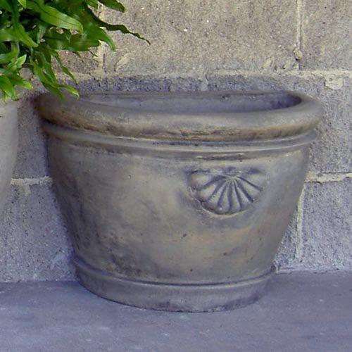 Round Cast Stone Half Townhouse Planter