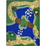 Joy Carpets 1788C 5 ft. 4 in. x 7 ft. 8 in. Alphabet Trail Kid Essentials Rectangle Rug, Multicolor