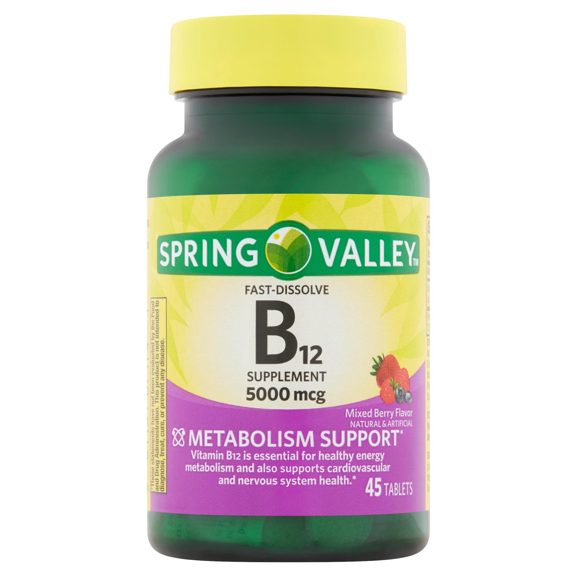 Spring Valley Vitamin B12 Fast-Dissolve