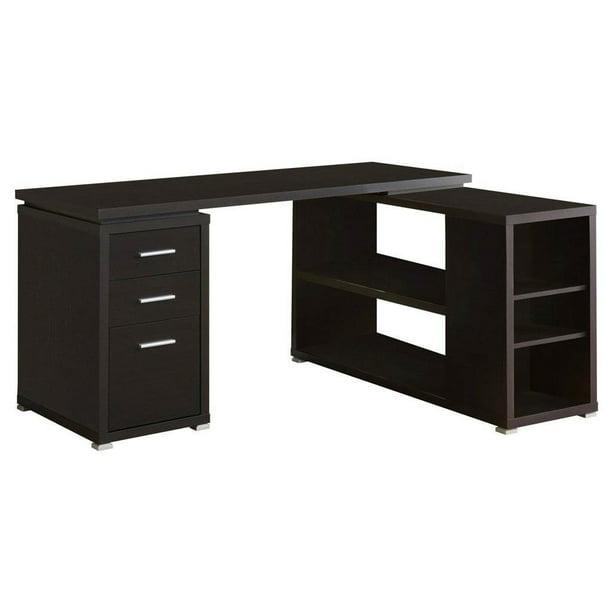Monarch Hollow-Core Left or Right Facing Corner Desk - Cappuccino