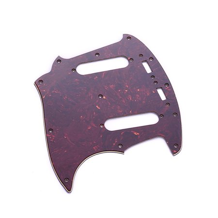 3 Ply PVC Electric Guitar Pickguard with 2 Single Coil Pickup Hole for Mustang MG69 Guitar Replacement Brown Tortoise