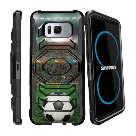 - Case for Samsung Galaxy S8 | S8 Galaxy Hybrid Case [ Armor Reloaded ] Heavy Duty Case with Belt Clip & Kickstand Soccer Collection