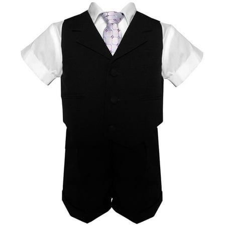 Gino Giovanni Baby-Boys Summer Suit Vest Short Set G240 - Short Suit