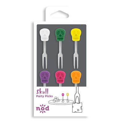 Nod Skull Party / Hors d'oeuvre Picks - Set of 6](Halloween Bento Picks)