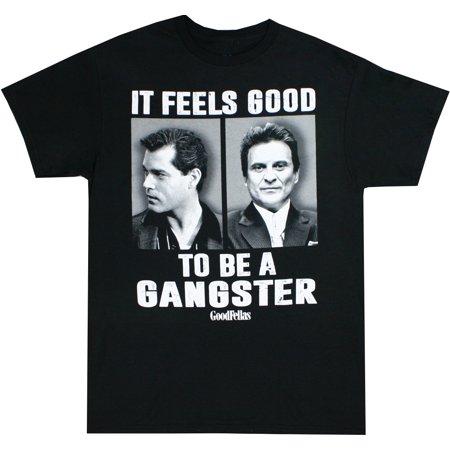 Goodfellas Feels Good To Be a Gangster Men's Black Shirt, XX-Large (Black Ganster)