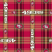 NFL San Francisco 49ERS Polyester Fleece Fabric, per Yard